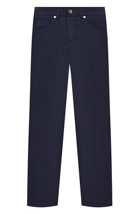 Детские хлопковые брюки ALESSANDRO BORELLI MILANO синего цвета, арт. 20203 | Фото 1