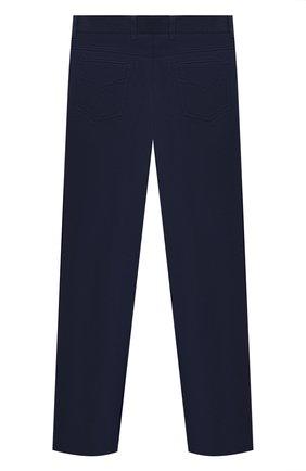 Детские хлопковые брюки ALESSANDRO BORELLI MILANO синего цвета, арт. 20203 | Фото 2