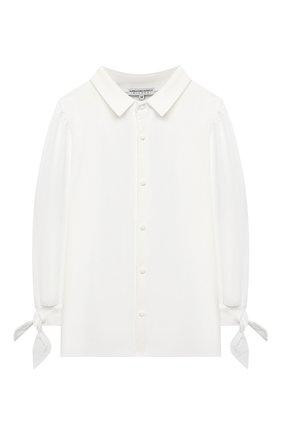 Детское хлопковая блузка ALESSANDRO BORELLI MILANO белого цвета, арт. J20162-20л | Фото 1