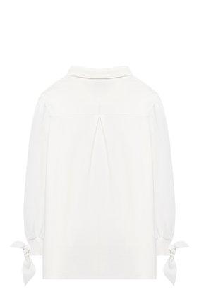 Детское хлопковая блузка ALESSANDRO BORELLI MILANO белого цвета, арт. J20162-20л | Фото 2