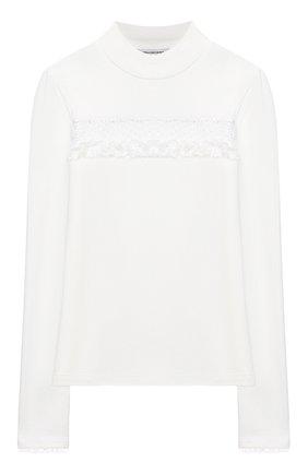 Детская хлопковая блузка ALESSANDRO BORELLI MILANO белого цвета, арт. J20166-20л | Фото 1