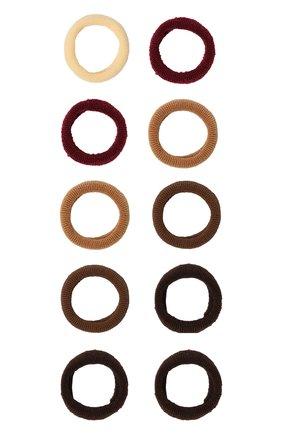 Детская комплект из 12-ти резинок soft basic xs JUNEFEE коричневого цвета, арт. 6560 | Фото 1