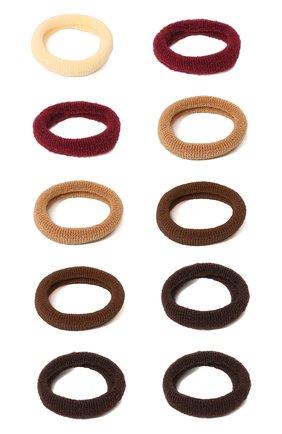 Детская комплект из 12-ти резинок soft basic xs JUNEFEE коричневого цвета, арт. 6560 | Фото 2