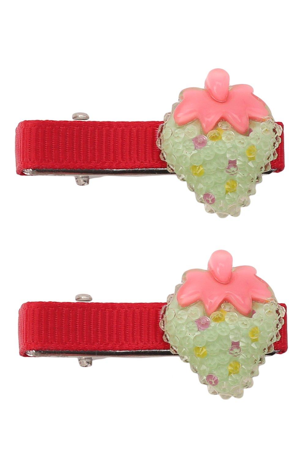 Детская комплект из двух заколок shiny strawberry JUNEFEE разноцветного цвета, арт. 6235   Фото 1