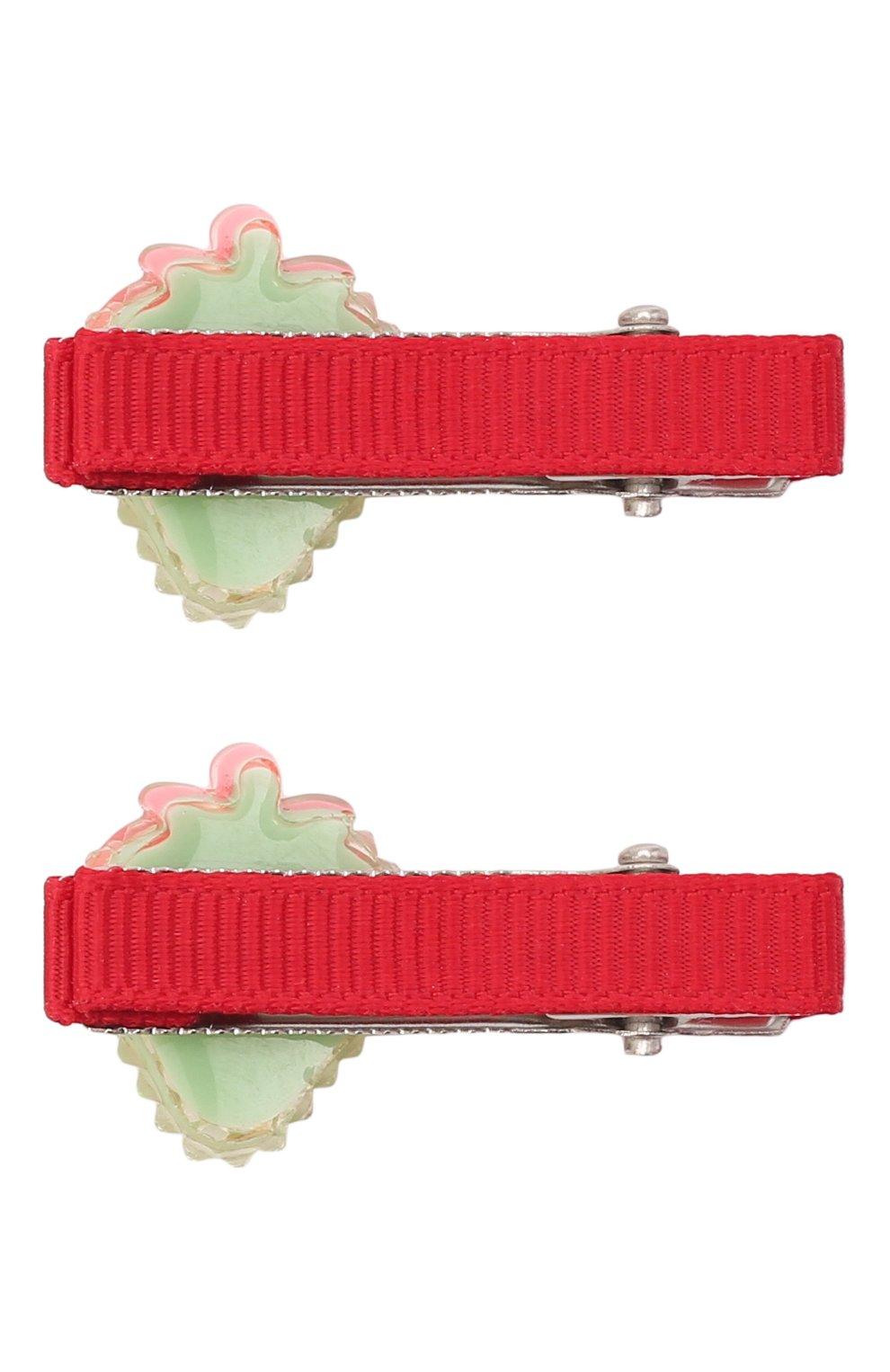 Детская комплект из двух заколок shiny strawberry JUNEFEE разноцветного цвета, арт. 6235   Фото 2
