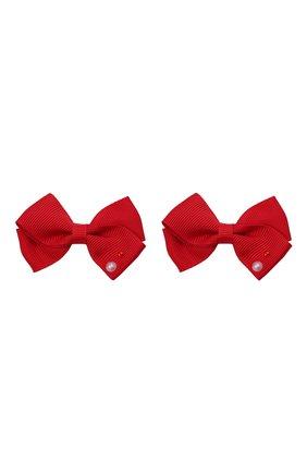 Детская комплект из двух заколок wavy JUNEFEE красного цвета, арт. 6593 | Фото 1
