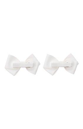 Детская комплект из двух заколок wavy JUNEFEE белого цвета, арт. 6591 | Фото 2
