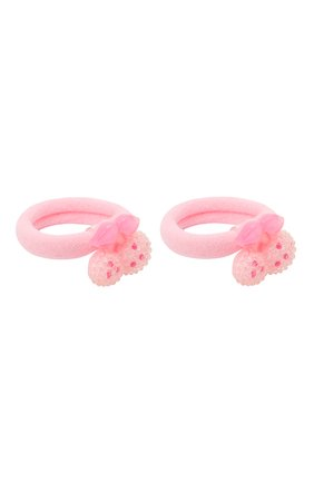 Детская комплект из двух резинок cherry JUNEFEE розового цвета, арт. 4603 | Фото 2