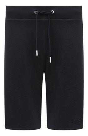 Мужские хлопковые шорты BOSS синего цвета, арт. 50431112 | Фото 1