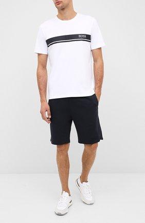 Мужская хлопковая футболка BOSS белого цвета, арт. 50431074 | Фото 2