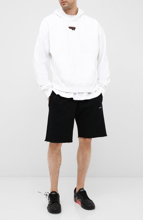 Мужские кожаные кеды vulcanized OFF-WHITE черного цвета, арт. 0MIA085E20LEA0011001 | Фото 2