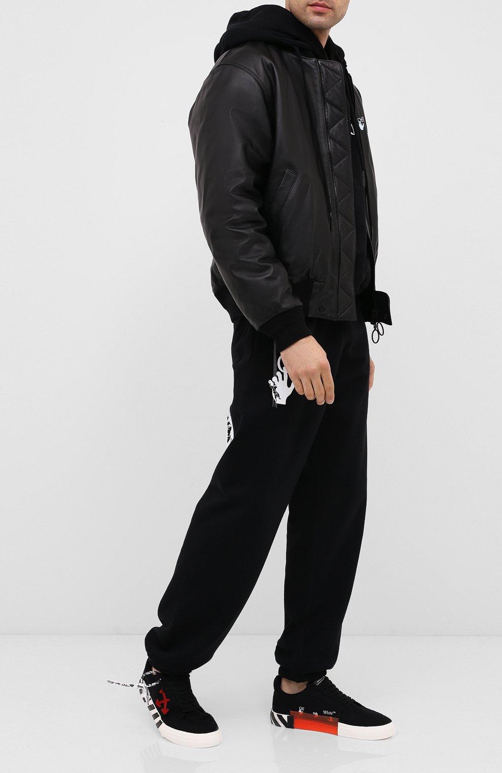 Мужские текстильные кеды vulcanized OFF-WHITE черного цвета, арт. 0MIA085E20FAB0011025 | Фото 2