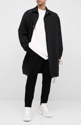 Мужская хлопковый лонгслив BOTTEGA VENETA белого цвета, арт. 625983/VF1U0 | Фото 2