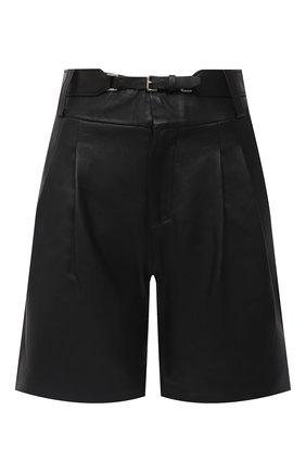Женские кожаные шорты REDVALENTINO черного цвета, арт. UR3NH00V/5BW | Фото 1