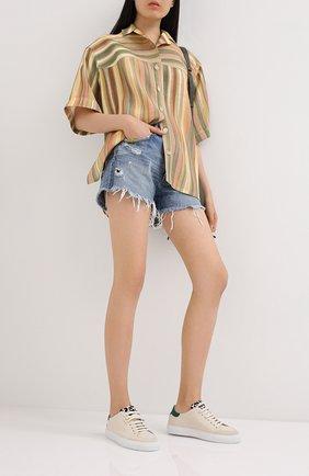 Женские кожаные кеды clean 90 triple animal AXEL ARIGATO бежевого цвета, арт. 98630 | Фото 2