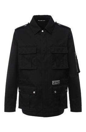 Мужская куртка VALENTINO черного цвета, арт. UV3CJC676E8 | Фото 1