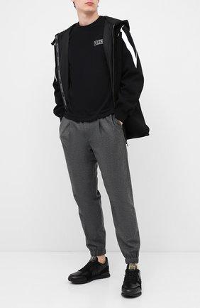 Мужская хлопковая футболка VALENTINO черного цвета, арт. UV3MG08G6LC | Фото 2