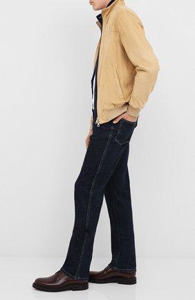 Мужской кожаные дерби BRUNELLO CUCINELLI бордового цвета, арт. MZUCMAK856 | Фото 2