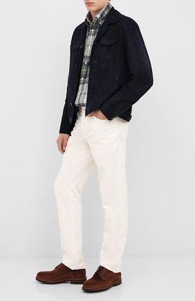 Мужской замшевые дерби BRUNELLO CUCINELLI темно-коричневого цвета, арт. MZUNETM176 | Фото 2