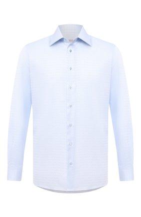 Мужская хлопковая сорочка ZILLI голубого цвета, арт. MFU-00401-01044/0001 | Фото 1