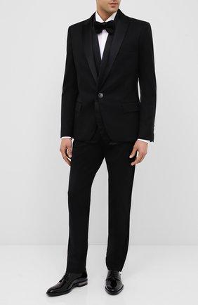Мужской кожаные дерби BALMAIN черного цвета, арт. UM1C185/LVRE | Фото 2