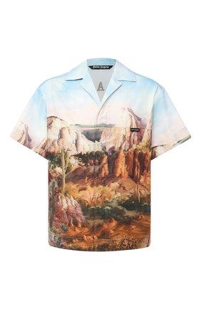 Мужская хлопковая рубашка PALM ANGELS разноцветного цвета, арт. PMGA075E20FAB0024010 | Фото 1