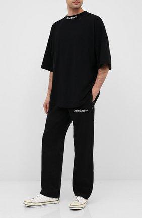 Мужские текстильные кеды PALM ANGELS черно-белого цвета, арт. PMIA048E20LEA0010110 | Фото 2