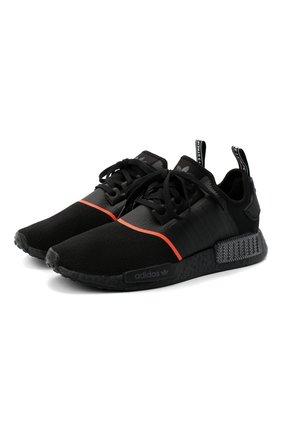 Мужские кроссовки nmd_r1 ADIDAS ORIGINALS черного цвета, арт. EE5085 | Фото 1