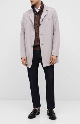 Мужской шерстяной свитер ANDREA CAMPAGNA темно-синего цвета, арт. 10102/25704   Фото 2