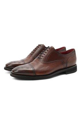 Мужские кожаные оксфорды BARRETT светло-коричневого цвета, арт. 152U002.4/NEW B0X | Фото 1