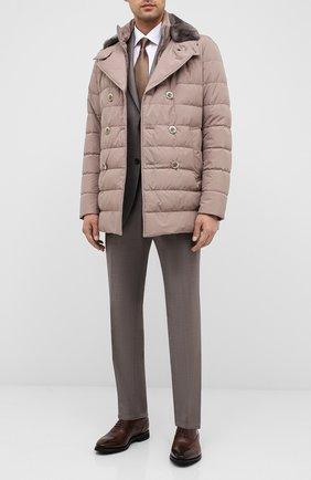 Мужские кожаные оксфорды BARRETT светло-коричневого цвета, арт. 152U002.4/NEW B0X | Фото 2