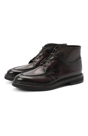Мужские кожаные ботинки BARRETT темно-коричневого цвета, арт. 192U026.12/BETIS CREAM | Фото 1