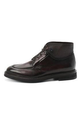 Мужские кожаные ботинки BARRETT темно-коричневого цвета, арт. 192U026.12/BETIS CREAM | Фото 3