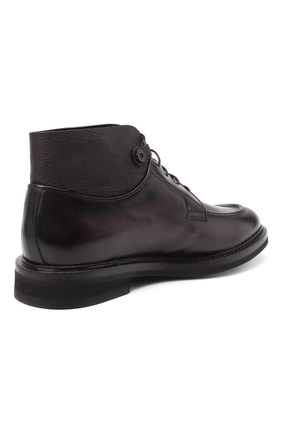 Мужские кожаные ботинки BARRETT темно-коричневого цвета, арт. 192U026.12/BETIS CREAM | Фото 4