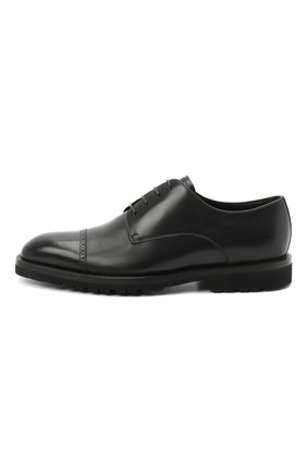 Мужские кожаные дерби BARRETT черного цвета, арт. 192U042.16/VITELL0 | Фото 3