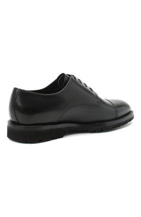 Мужские кожаные дерби BARRETT черного цвета, арт. 192U042.16/VITELL0 | Фото 4