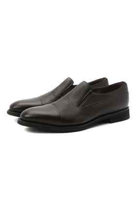 Мужские кожаные лоферы BARRETT темно-коричневого цвета, арт. 192U089.5/CERV0 ASP0RTABILE | Фото 1
