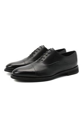 Мужские кожаные оксфорды BARRETT черного цвета, арт. 192U090.5/VITELL0 | Фото 1