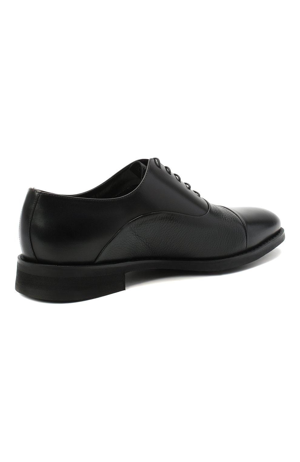 Мужские кожаные оксфорды BARRETT черного цвета, арт. 192U090.5/VITELL0 | Фото 4