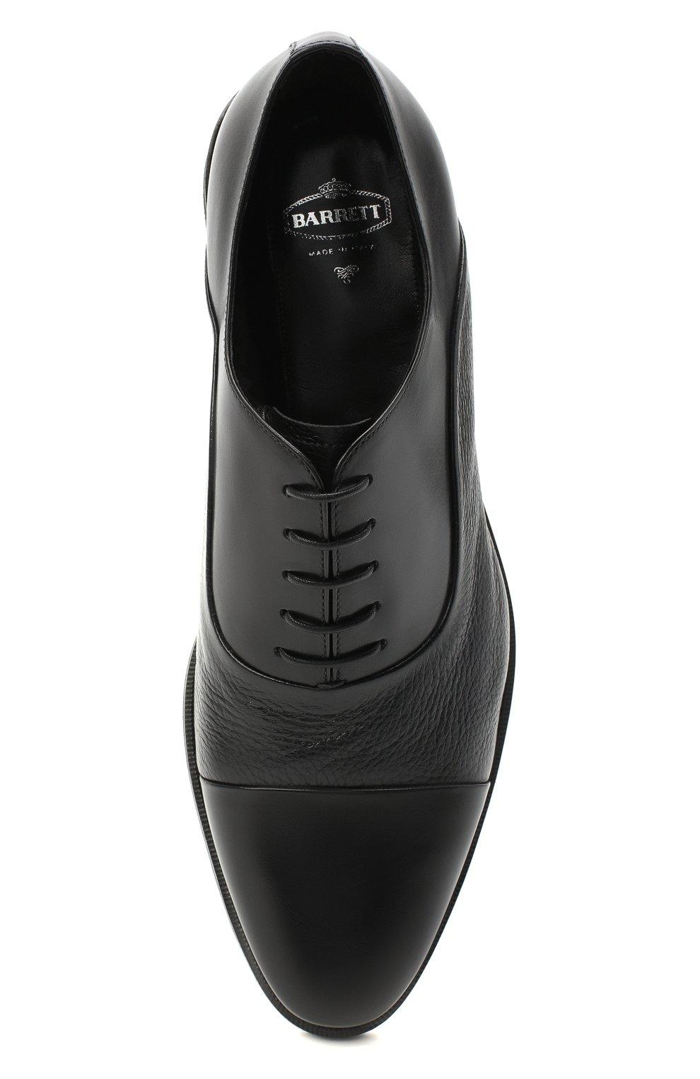 Мужские кожаные оксфорды BARRETT черного цвета, арт. 192U090.5/VITELL0 | Фото 5