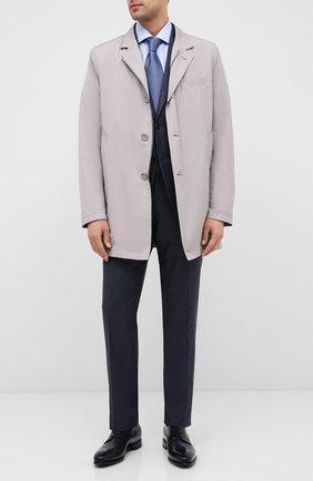 Мужской кожаные дерби BARRETT темно-синего цвета, арт. 192U092.6/BETIS CREAM | Фото 2