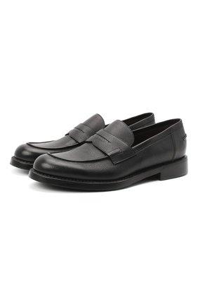 Мужские кожаные пенни-лоферы BARRETT черного цвета, арт. 201U060.13/RIX0N | Фото 1