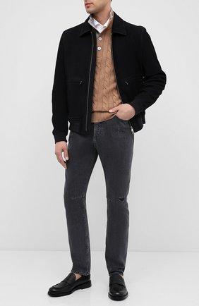Мужские кожаные пенни-лоферы BARRETT черного цвета, арт. 201U060.13/RIX0N | Фото 2