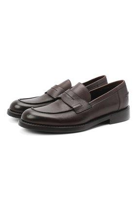 Мужские кожаные пенни-лоферы BARRETT темно-коричневого цвета, арт. 201U060.14/RIX0N | Фото 1