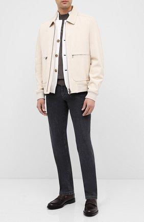 Мужские кожаные пенни-лоферы BARRETT темно-коричневого цвета, арт. 201U060.14/RIX0N | Фото 2