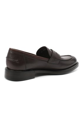 Мужские кожаные пенни-лоферы BARRETT темно-коричневого цвета, арт. 201U060.14/RIX0N | Фото 4