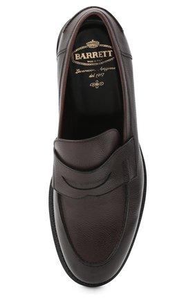 Мужские кожаные пенни-лоферы BARRETT темно-коричневого цвета, арт. 201U060.14/RIX0N | Фото 5