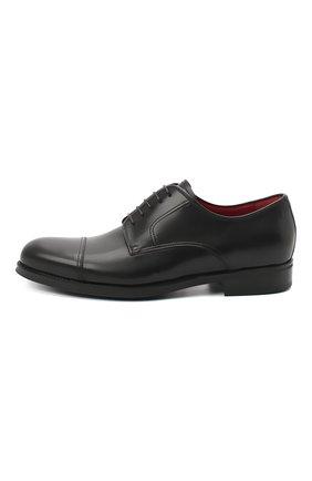 Мужские кожаные дерби BARRETT черного цвета, арт. 202U031.6/NEW B0X | Фото 3