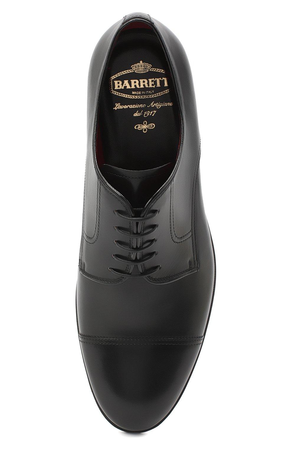 Мужские кожаные дерби BARRETT черного цвета, арт. 202U031.6/NEW B0X | Фото 5