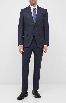 Мужские кожаные оксфорды BARRETT темно-коричневого цвета, арт. 202U034.7/NEW B0X | Фото 2